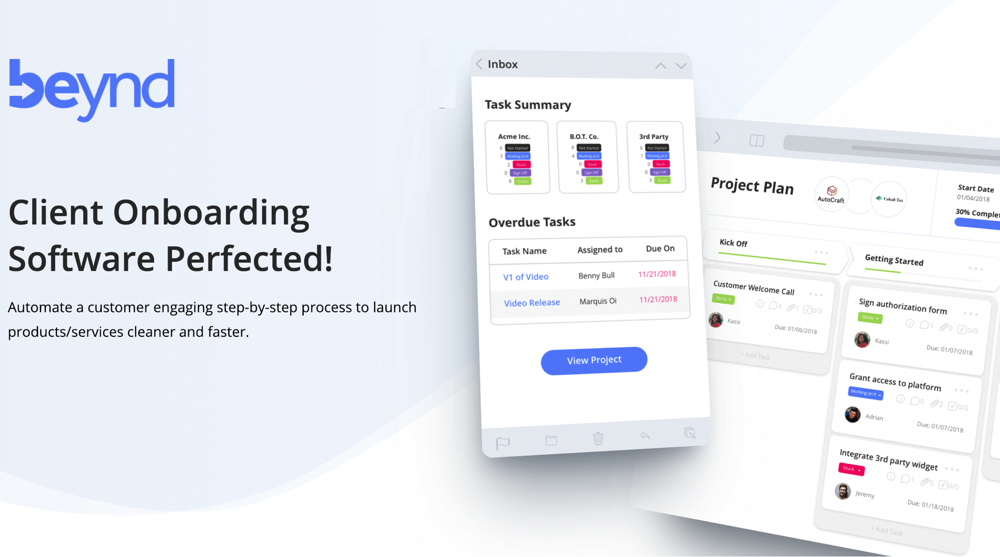 Intuitive Client-facing Project Management Software | beynd